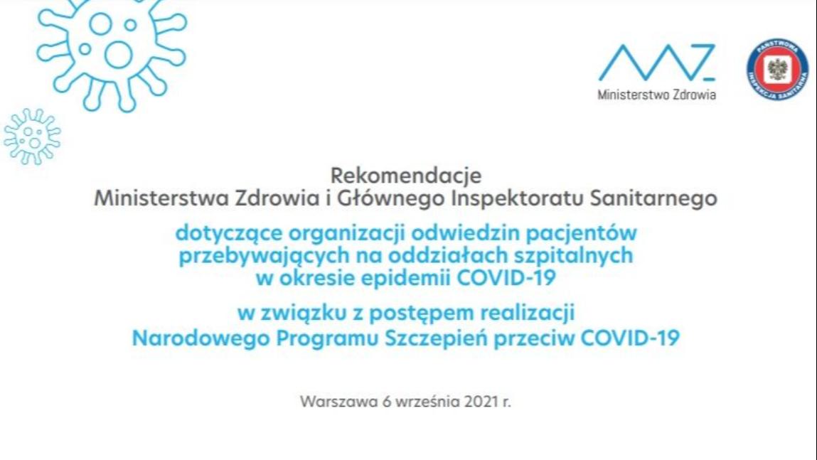 Rekomendacje Ministerstwa Zdrowia i Głównego Inspektoratu Sanitarnego